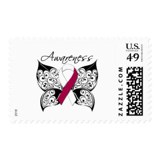 Tattoo Butterfly Awareness - Head Neck Cancer Stamps