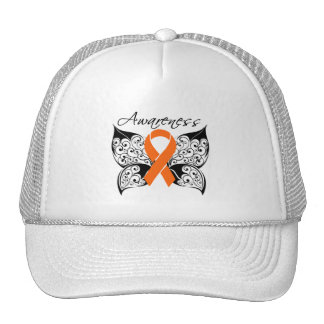 Tattoo Butterfly Awareness - Kidney Cancer Mesh Hat