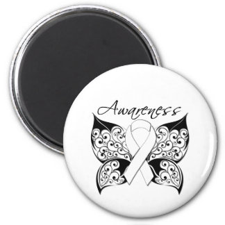 Tattoo Butterfly Awareness - Lung Cancer Fridge Magnets