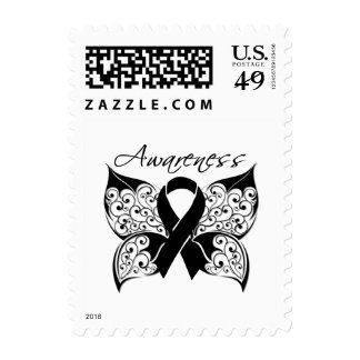 Tattoo Butterfly Awareness - Melanoma Stamps