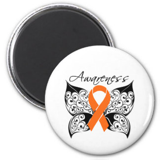 Tattoo Butterfly Awareness - Multiple Sclerosis 2 Inch Round Magnet