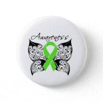Tattoo Butterfly Awareness Non-Hodgkin's Lymphoma Pinback Button