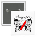Tattoo Butterfly Awareness - Oral Cancer Button