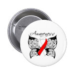 Tattoo Butterfly Awareness - Oral Cancer Pinback Buttons