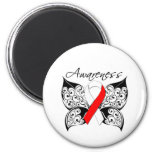 Tattoo Butterfly Awareness - Oral Cancer Fridge Magnet
