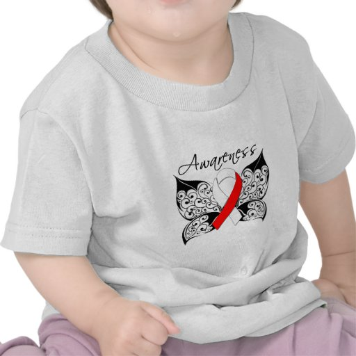 Tattoo Butterfly Awareness - Oral Cancer Tee Shirts