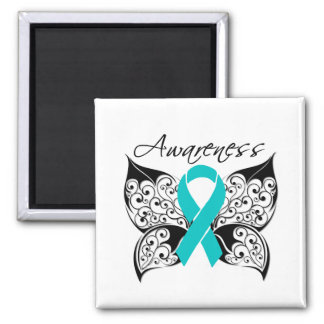 Tattoo Butterfly Awareness - PCOS Refrigerator Magnets