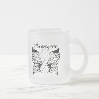Tattoo Butterfly Awareness - Retinoblastoma 10 Oz Frosted Glass Coffee Mug