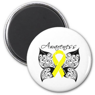 Tattoo Butterfly Awareness - Sarcoma 2 Inch Round Magnet