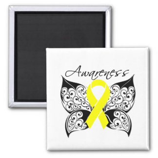 Tattoo Butterfly Awareness - Sarcoma Refrigerator Magnet