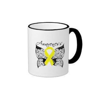 Tattoo Butterfly Awareness - Sarcoma Ringer Coffee Mug