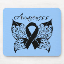 Tattoo Butterfly Awareness - Skin Cancer Mouse Pad