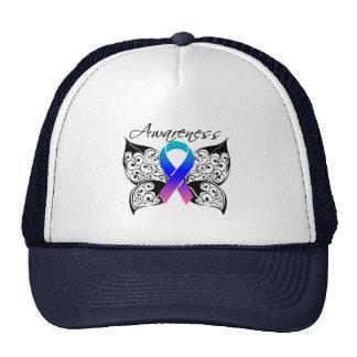 Tattoo Butterfly Awareness - Thyroid Cancer Trucker Hat