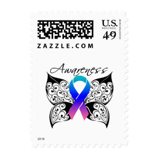 Tattoo Butterfly Awareness - Thyroid Cancer Stamps