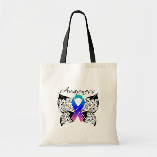 Tattoo Butterfly Awareness - Thyroid Cancer Tote Bag