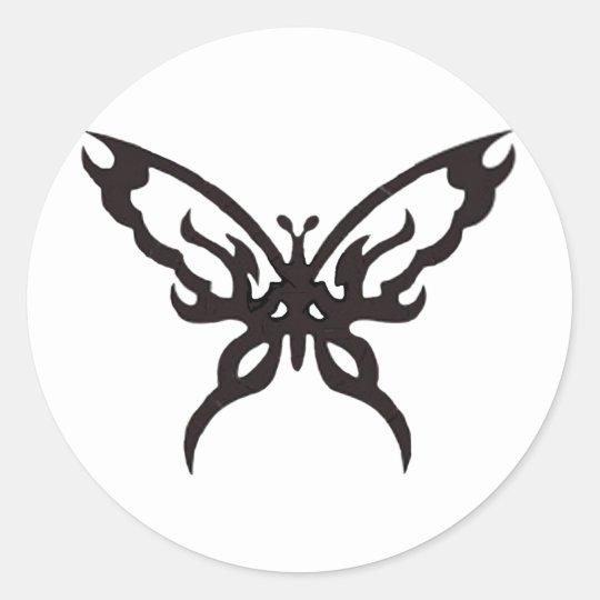 Tattoo Butterfly Classic Round Sticker