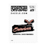Tattoo Butterfly Endometrial Cancer Survivor Postage Stamps