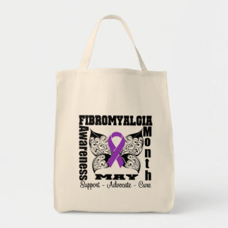 Tattoo Butterfly - Fibromyalgia Awareness Month Bags