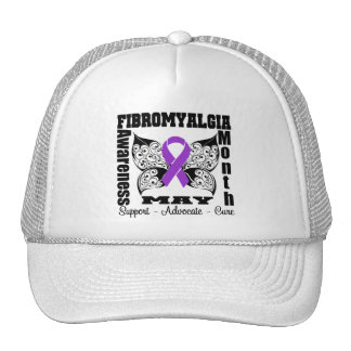 Tattoo Butterfly - Fibromyalgia Awareness Month Hats