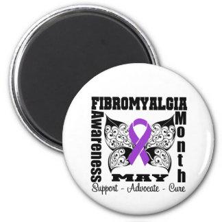 Tattoo Butterfly - Fibromyalgia Awareness Month Fridge Magnets