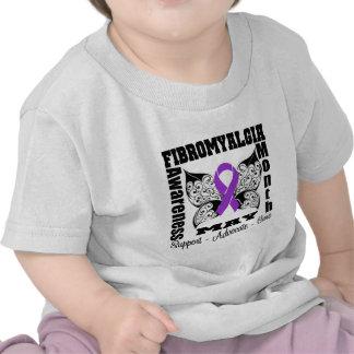Tattoo Butterfly - Fibromyalgia Awareness Month T Shirts