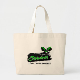 Tattoo Butterfly (Green) Kidney Cancer Survivor Tote Bag