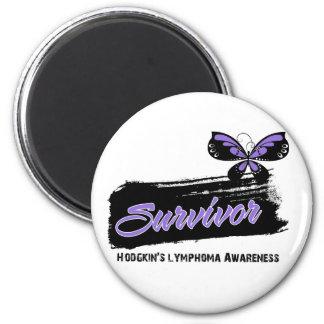Tattoo Butterfly Hodgkins Disease Survivor 2 Inch Round Magnet