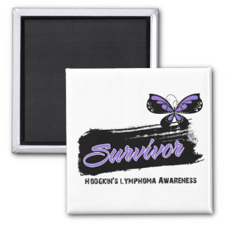 Tattoo Butterfly Hodgkins Disease Survivor 2 Inch Square Magnet
