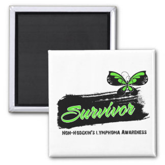 Tattoo Butterfly NonHodgkins Lymphoma Survivor 2 Inch Square Magnet