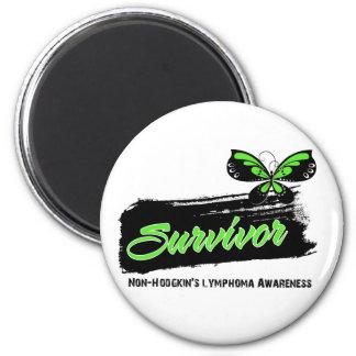 Tattoo Butterfly NonHodgkins Lymphoma Survivor 2 Inch Round Magnet