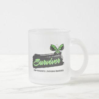 Tattoo Butterfly NonHodgkins Lymphoma Survivor 10 Oz Frosted Glass Coffee Mug