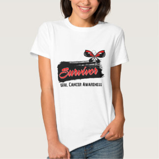 Tattoo Butterfly Oral Cancer Survivor Tee Shirt