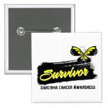 Tattoo Butterfly Sarcoma Survivor Pinback Button