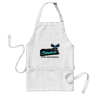Tattoo Butterfly Thyroid Cancer Survivor Aprons