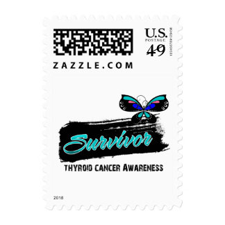 Tattoo Butterfly Thyroid Cancer Survivor Postage Stamps