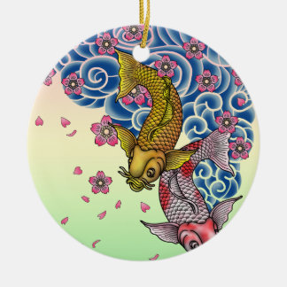 tattoo carps ceramic ornament