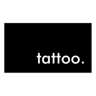 tattoo. (color customizable) business cards