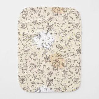 Tattoo concept pattern baby burp cloth