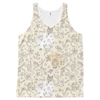 Tattoo concept pattern All-Over print tank top