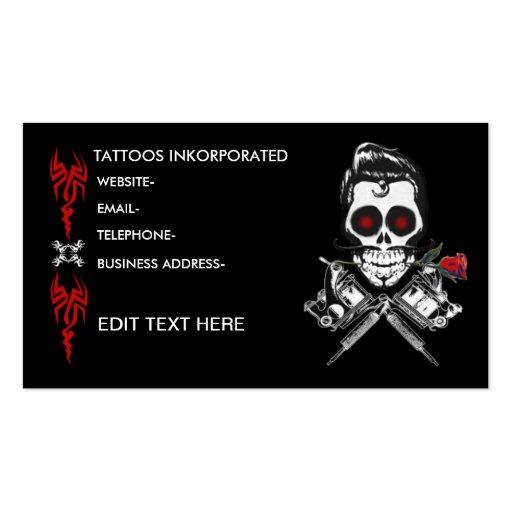 Tattoo Business Cards Templates Free Tattoo Salon Premium
