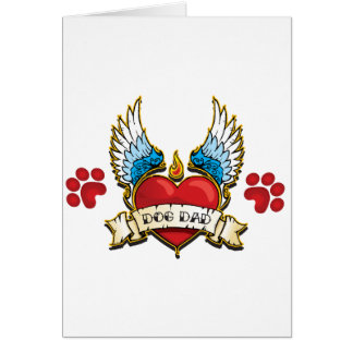 Tattoo Design for Dog Dad Card