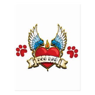 Tattoo Design for Dog Dad Postcard