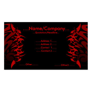 Tattoo. Double-Sided Standard Business Cards (Pack Of 100)
