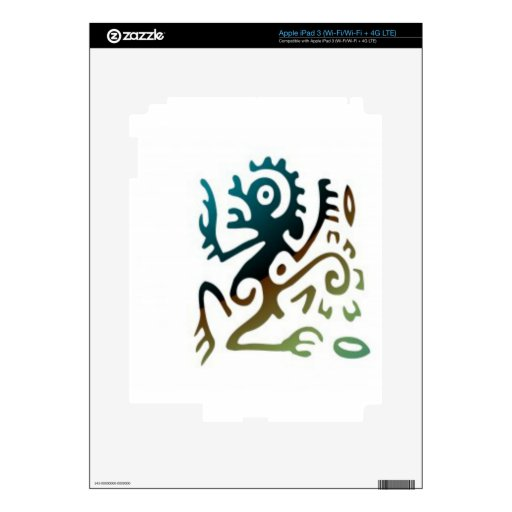 Tattoo Dragon Skin For iPad 3