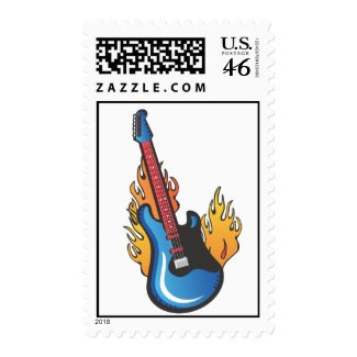 Tattoo Electric Guitar postage stamp