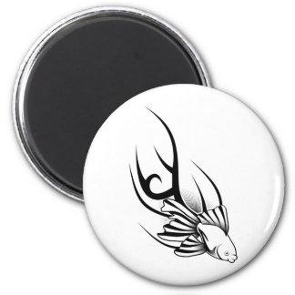 Tattoo Fish 2 Inch Round Magnet