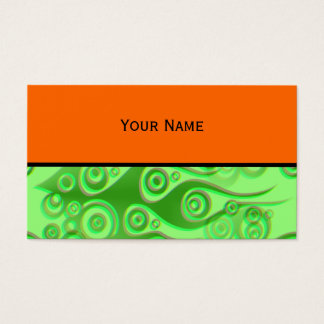Tattoo flames & circles pattern + your backgr. business card