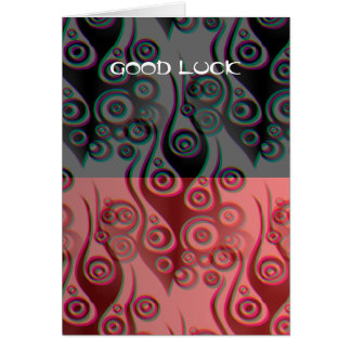 Tattoo flames & circles pattern + your backgr. greeting card