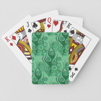 Tattoo flames & circles pattern + your backgr. poker cards