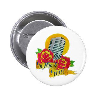 Tattoo flash Old school microphone Button